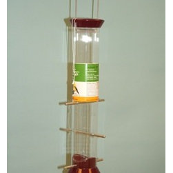 Droll Yankees - Sunflower Feeder Burgundy Seed 15 in. - Sunflower Feeder Burgundy Seed 15 in. Zinc die cast tops, bases and ports- to last a lifetime Stainless steel wire- squirrels can't chew Snug fitting sliding cap- easy for you to lift but hard for squirrels Top assembly.