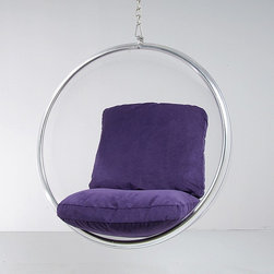 Modern Classics - Aarnio: Ball Chair Hanging Transparent Acrylic Reproduction - Features: