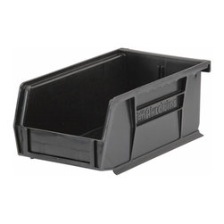 "Akro-Mils - Black Stackable Storage Bins, 7.5""- Set of 24 - AkroBins optimize your storage space. Control inventories, shorten assembly times and minimize parts handling. Heavy-duty polypropylene bins hang from Akro-Mils racks, panels, rails, and carts; securely stack atop each other and sit on shelving. AkroBins are unaffected by weak acids and alkalis. Sturdy, one-piece construction is water, rust and corrosion proof and guaranteed not to break. Autoclavable up to 250Degrees F."