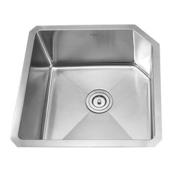 "Kraus - Kraus 23"" Undermount Single Bowl Stainless Steel Sink Combo Set - Add an elegant touch to your kitchen with unique Kraus kitchen combo"
