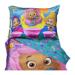 Betesh Group - Bubble Guppies Toddler Bedding Set Molly Dance - FEATURES: