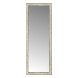 """Posters 2 Prints, LLC - 17"""" x 46"""" Libretto Antique Silver Custom Framed Mirror - 17"""" x 46"""" Custom Framed Mirror made by Posters 2 Prints. Standard glass with unrivaled selection of crafted mirror frames.  Protected with category II safety backing to keep glass fragments together should the mirror be accidentally broken.  Safe arrival guaranteed.  Made in the United States of America"""