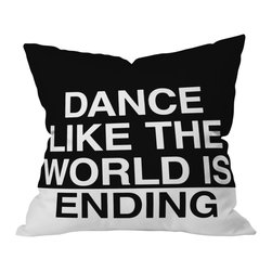 DENY Designs - Leeana Benson Dance Like the World Is Ending Outdoor Throw Pillow, 16x16x4 - Do you hear that noise? It's your outdoor area begging for a facelift and what better way to turn up the chic than with our outdoor throw pillow collection? Made from water and mildew proof woven polyester, our indoor/outdoor throw pillow is the perfect way to add some vibrance and character to your boring outdoor furniture while giving the rain a run for It's money.