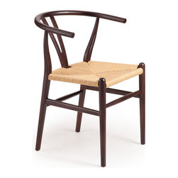 Zuo Era - Polk Chair Dark Walnut and Natural Wicker - Bring contemporary style to your living or dining area with our Polk Chair. This chair will surely kick any dining room up a notch.