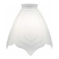 "The Renovators Supply - Lamp Shades Frosted Glass Lamp Shade 5 1/2"""" H 2 1/4"""" Fitter 