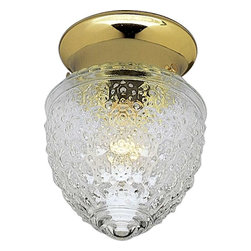 Progress Lighting - Progress Lighting P3750-10 Glass Globes 1 Light Flush Mount Ceiling Light - Progress Lighting P3750-10 Glass Globes 1 Light Flush Mount Ceiling Light In Polished Brass