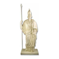 Orlandi Statuary - Roman Goddess Minerva Giustinia Statue Multicolor - F28MINERVAGIUSTINIA - Shop for Statues and Sculptures from Hayneedle.com! Make your garden a safe sanctuary with the Roman Goddess Minerva Giustinia Garden Statue. This statue is simply beautiful in its balance and scale. Minerva Giustinia stands 74 inches. The statue's fiberglass resin construction lighter in weight than stone or concrete also gives it durability that lasts through all seasons.About Orlandi StatuaryBorn in 1911 when Egisto Orlandi traveled from Lucca Italy to Chicago Illinois Orlandi Statuary quickly set the standard for excellence in their industry. Egisto took great pride in his craft and reputation and which is why artists interior designers and museums relied upon the careful details and impeccable quality he demanded. Over the years they've evolved into a company supplying more than statuary. Orlandi's many collections today include fiber stone for the garden religious statuary fountains columns and pedestals. Their factory and showroom are still proudly located in Chicago where after 100 years they remain an industry icon.