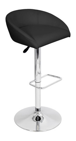 "Lumisource - Zinger Bar Stool, Black - 17"" L x 20.25"" W x 29 - 37.5"" H"