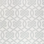 Kimberly Lewis Home - Knotted Wallpaper, Roll, Frost - Get ready to tie the knot. You'll love this classic and stylish pattern in just about every room of your house.
