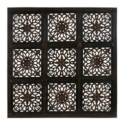 """Benzara - Classy Wooden Wall Panel and Abstract Design and Rustic Finish - Classy wooden Wall Panel and Abstract design and Rustic finish. Add a rustic look and feel to your home or office and this wooden wall panel. It comes and a dimension of 36""""W x 36""""W x 1""""D."""