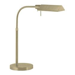Robert Sonneman Lighting - Robert Sonneman Lighting 7004.38 Tenda Pharmacy 1 Light Floor Lamps in Satin Bra - Tenda Pharmacy Table Lamp
