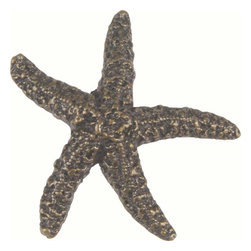 Atlas Homewares - Atlas 142-Bb Sea 2-Inch Starfish Design Door Knob Burnished Bronze - Atlas 142-Bb Sea 2-Inch Starfish Design Door Knob Burnished Bronze