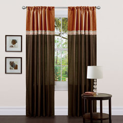 Lush Decor - Terra Brown/Rust Window Curtain, Set of Two - - Fun colors and classy designs makes this drapery set perfect for any room. Top loop slides easily onto your curtain rod for quick installation. Full lining provides extra insulation and privacy. Durable fabric promises lasting quality.  - Size - 54X84  - Includes: 2 Window Panels  - Top Pocket - Rod Pocket  - Non-Weighted  - Additional Hardware Necessary - Rod  - Panel: 54x84  - Fabric Content:100% Polyester  - Care Instructions: Comforter/bed skirt/shams: dry clean * Pillows: spot clean  Lush Decor - C01028Q12