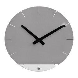 Progetti - Sheet 2010 Silver Wall Clock - Wall clock in painted steel. Battery quartz movement.