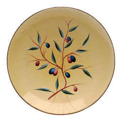 ATD - 8 Inch Purple Olives on the Vine Amber Collectible Glass Plate - This gorgeous 8 Inch Purple Olives on the Vine Amber Collectible Glass Plate has the finest details and highest quality you will find anywhere! 8 Inch Purple Olives on the Vine Amber Collectible Glass Plate is truly remarkable.