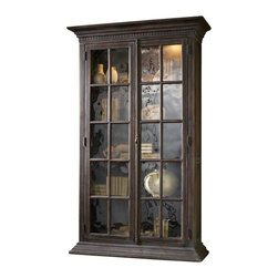 Hooker Furniture - Hooker Furniture DaValle Display Cabinet - Hooker Furniture - Curio Cabinets - 516550001 - Has storage ever looked this good? From European to loft to romantic to classic Traditional this beautifully scaled and designed display cabinet curio offers the best home your books mementoes and cherished photos will ever have.