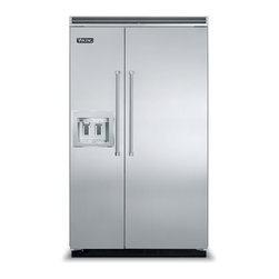 """Viking 48"""" Built-in Side By Side Refrigerator, Stainless Steel 