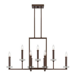Designers Fountain - Designers Fountain Fieldhouse Linear Chandelier in Flemish Bronze - Shown in picture: Fieldhouse 9 Light Chandelier in Flemish Bronze finish