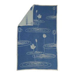 "Happy Blanket - Cotton Throw Blanket Lily Pond 57""X71"" - This Beautiful Lily Pond Pattern Blanket / Throw is made of 100% Cotton for a comfy feel. Dress your bed, or the foot of the bed. This comfy blanket is sure to become an accent on your favorite sofa or chair. Take this blanket with you to the beach on the boat and cozy up at night while telling stories around a bonfire."