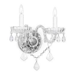 Venetian Crystal 2-light Wall Sconce -