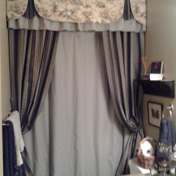Not Your Average Shower Curtain - Designer - Mary Scalli, North Houston Blinds, LLC dba SImple Elegance