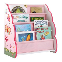 Guidecraft Butterfly Buddies Book Display - A beautiful way to store your child's favorite books, the Guidecraft Butterfly Buddies Book Display features a whimsical hand-painted butterfly and flower motif. The easy-to-clean canvas storage pockets are designed to hold both books and magazines.About GuidecraftGuidecraft was founded in 1964 in a small woodshop, producing 10 items. Today, Guidecraft's line includes over 160 educational toys and furnishings. The company's size has changed, but their mission remains the same; stay true to the tradition of smart, beautifully crafted wood products, which allow children's minds and imaginations room to truly wonder and grow.Guidecraft plans to continue far into the future with what they do best, while always giving their loyal customers what they have come to expect: expert quality, excellent service, and an ever-growing collection of creativity-inspiring products for children.
