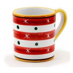 Artistica - Hand Made in Italy - Christmas: Mug 10 Oz. Red - Christmas Ornament