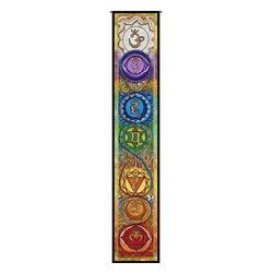 """Circles of Light Imports LLC - Kundalini Chakra Ladder, Full Color Tapestry as Shown, 11.25"""" X 63.25"""" Wall Hang - Kundalini Chakra Ladder"""