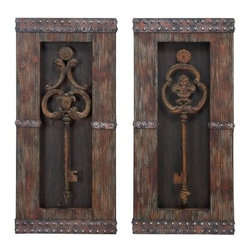Antique Key Wood Wall Decor - Set of 2 - 14W x 30H in. ea. - About AspireSpecializing in quality lamps, wall art, clocks, mirrors and accent vases, Aspire offers a wide selection of products for every taste. You'll appreciate the designer look - without the designer prices. Aspire is a family-owned and operated business that has served the home decor industry for over 30 years. Thanks to beautiful design with quality in mind, the company continues to flourish.