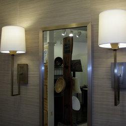 Light Fixtures - Norwell Maya Aged Brass Sconces