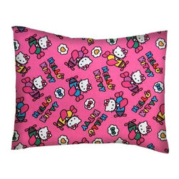 SheetWorld - SheetWorld Twin Pillow Case - Percale Pillow Case - Hello Kitty Airplanes - Pillow case is made of a durable all cotton percale/woven material. Fits a standard twin size pillow. Side Opening. Features a hello kitty airplanes print.