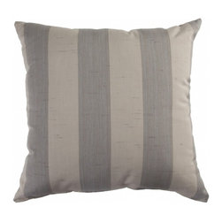 "Sunbrella® 24""x24"" Square Designer Pillow, Decade Pewter - Making the best relaxation that much better! Soft. Plush. Vibrant. Attractive. Durable. Colorfast. These pillows promise lasting outdoor comfort you won't want to take your eyes or head off of! The stylish 24""x24"" Sunbrella® Decade Pewter Square Throw Pillow is sure to liven up any backyard and to provide instant comfort for relaxation. Perfect for hammocks, benches, chairs, sofas, futons, chaise lounges, and more."