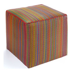 Outdoor Stools - Add a contemporary design splash to your patio or inside your home with this colorful outdoor cube that doubles as a stool or side table.