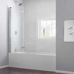 "DreamLine - DreamLine SHDR-3636580-01 AquaFold Tub Door - DreamLine AquaFold 36"" Frameless Hinged Tub Door, Clear 1/4"" Glass Door, Chrome Finish"