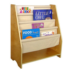 A+ Childsupply - A+ Childsupply Sling Bookcase Multicolor - F8451 - Shop for Childrens Bookcases from Hayneedle.com! About A+ Child Supply Inc.For over 10 years A+ ChildSupply has been supplying high quality products for use in schools daycares and homes. Their design team has developed an extensive series of preschool furniture with safety durability and beauty as top priorities. Every product built in their factory undergoes an extensive battery of tests and is compliant with all laws and regulations as set forth by the CPSC (Consumer Products Safety Commission) and is also compliant with European standards of EN-71. Each product is designed with protective corners and edges moisture- and stain-resistant finishes durable construction methods environmentally friendly wood renewable resources innovation and superior quality and value.