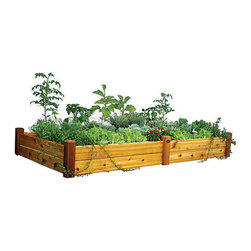 Gronomics - Cedar Raised Garden Bed 4x8, Safe Finish, 19, Trellis - These Are Among the Most Reputable Cedar Raised Beds in the Industry