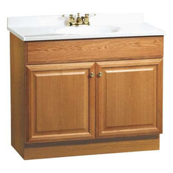 "RSI HOME PRODUCTS - Oak Vanity Combo 36"" - Features:"