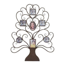 BZBZ85992 - Metal Wall Tree Shaped Photo Frame - Metal Wall Tree Shaped Photo Frame. Now display your memorable photos and pictures in this beautiful and stylish metal wall photo frame. Some assembly may be required.