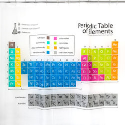 Splash Home - Periodic Table Shower Curtain - Here's something for the nerd in you.