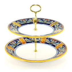 Artistica - Hand Made in Italy - Excelsior: Two-Tier Tid-Bit Tray - Artistica's Exclusive!