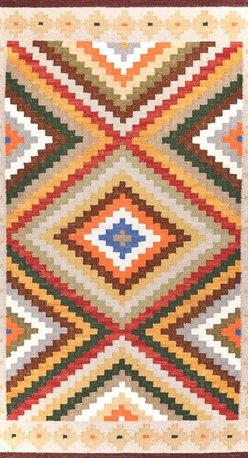 Hand woven Pure Wool  Kilim Area Rug/Carpet - A brand new very beautiful hand woven kilim.