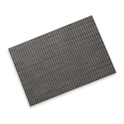 """Foreston Trends - Goodman Placemat - This durable placemat features a woven pattern. Placemat is also flexible and easily wipes clean with a damp cloth. Lay flat to dry. Measures 13"""" x 19""""."""