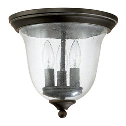 Capital Lighting - Capital Lighting 9541OB 3 Light Outdoor Flushmount Ceiling Fixture - Beginning with design concepts from popular home fashions, they transform their ideas into lighting fixtures that blend timeless beauty with today's styling.