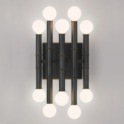 Robert Abbey - Robert Abbey Jonathan Adler Meurice 5-Arm Sconce Z686 - Deep Patina Bronze Finish