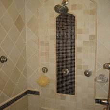 Traditional Bathroom by Susan Jablon Mosaics