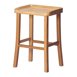 """Greenington - Greenington Tulip Counter Height Stool in Classic Bamboo - Caramelized [Set of 2 - Counter Height Stool in Classic Bamboo belongs to Tulip Collection by Greenington With smooth, sleek lines and a simple elegance that will enhance any living space, your dining area will be redefined as """"chic"""" with The Tulip Dining Collection."""