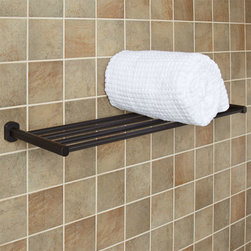 Marlton Towel Rack - The sleek design of the Marlton Towel Rack offers ample room for storing toiletries. Pair with other Marlton Collection bath items for a simple bathroom update.
