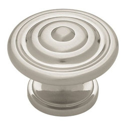 Liberty Kitchen Cabinet Hardware - Contempo Bulls Eye Brushed Satin Nickel Knob -