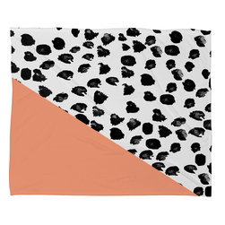 DENY Designs - Rebecca Allen Animal And Peach Fleece Throw Blanket - This DENY fleece throw blanket may be the softest blanket ever! And we're not being overly dramatic here. In addition to being incredibly snuggly with it's plush fleece material, it's maching washable with no image fading. Plus, it comes in three different sizes: 80x60 (big enough for two), 60x50 (the fan favorite) and the 40x30. With all of these great features, we've found the perfect fleece blanket and an original gift! Full color front with white back. Custom printed in the USA for every order.