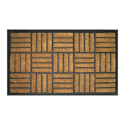 Entryways - Criss Cross Recycled Rubber Bootscraper Doormat - Intricate in design, this mat is crafted with the perfect combination of coconut fiber and recycled rubber. The result is a bootscraper designed to stand the test of time. It's tough enough to scrape boots on, yet unmistakably elegant to impress all your visitors.